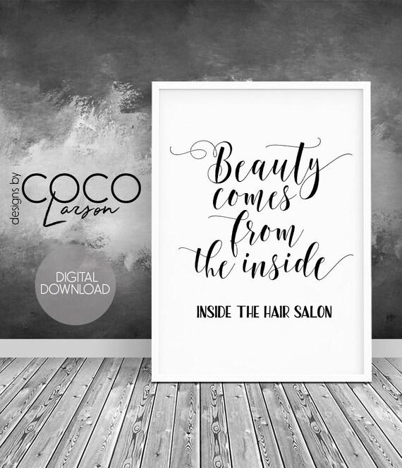 Hair Salon Decor Printable Beauty Salon Quote Hair Salon Etsy