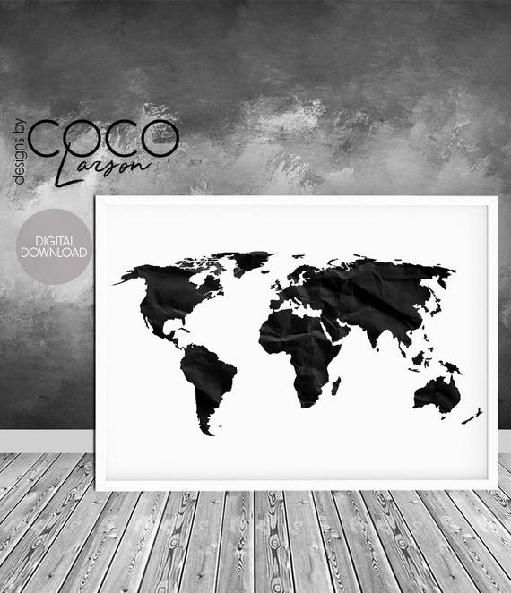 World map print world map poster black and white large gumiabroncs Images