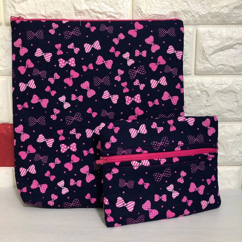 7e793d7b08d3 Minnie Mouse Bow Planner Pen Pouch Pink Neon Ipad Cover