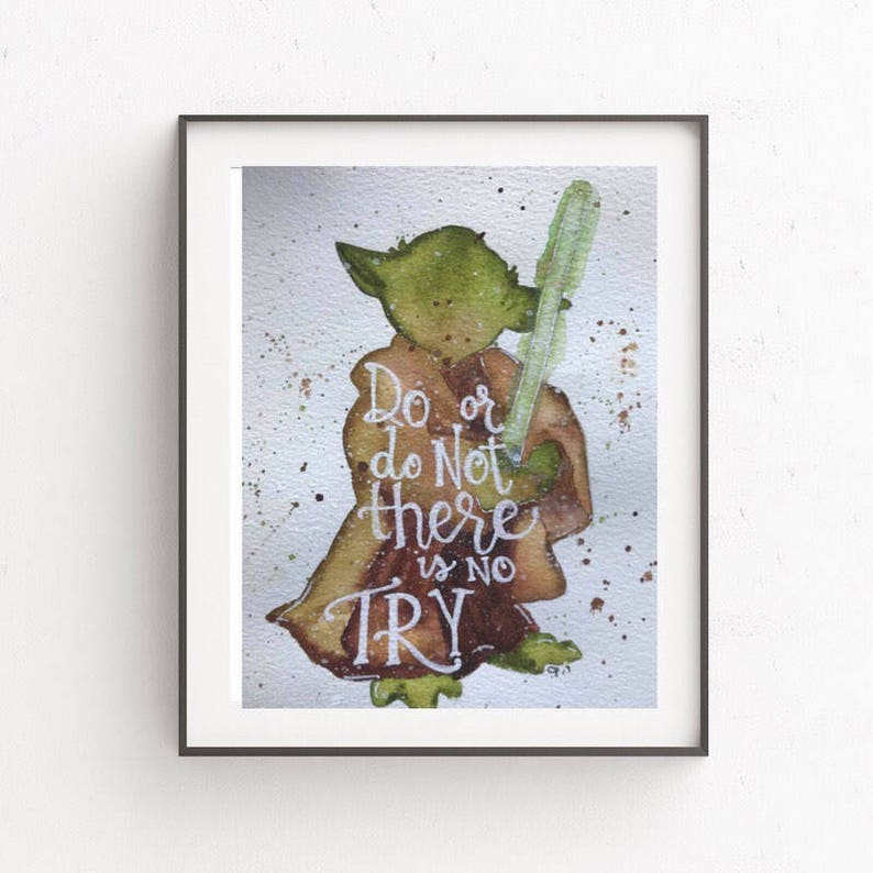 Yoda There Is No Try Etsy