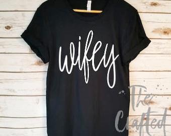 Honeymoon Shirt / Wifey Shirt / Wife Shirt / Bride Shirt / Engagement Shirt/ Bride gift/ Engagement Gift/ Wifey Top