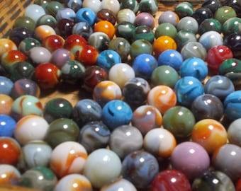 Shooters Jumbo Marbles - 7 Jabo Vitro 1 inch Classics - Biggies :) - Free Domestic  Shipping - Premium Glass Marbles