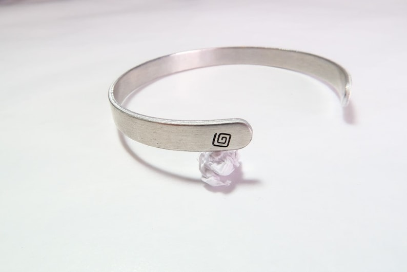 Aluminum Dream Cuff Bracelet-Hand Stamped Simple Cuff Style-14 Inch Wide Band-6 inches Long-Adjustable