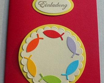 Diy 5 Menü Karten Für Taufe Konfirmation Kommunion Passend Zu Etsy