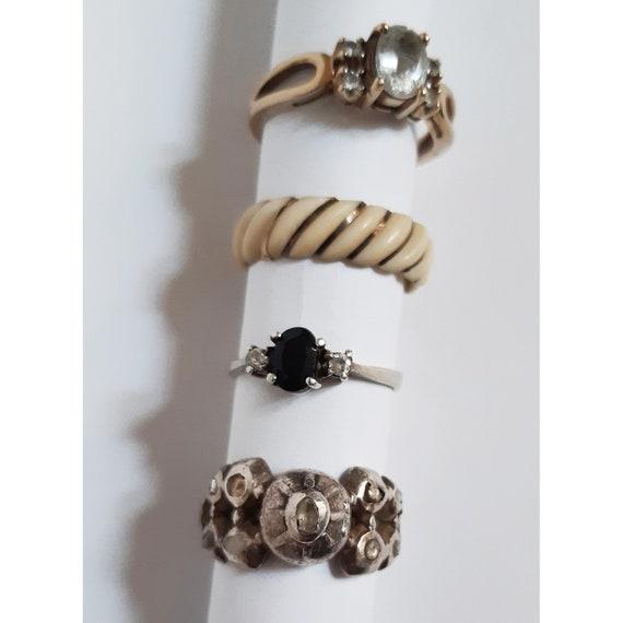 Antico anello in argento con diamanti grezzi - image 9