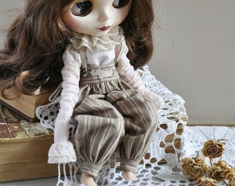 Blythe clothes/ pullip clothes/ blythe (pullip) outfit/ shirt and pants for blythe (pullip) doll