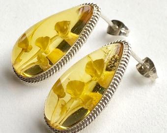 Mexican Earrings - Mexican Amber Earrings - Mexican Jewelry