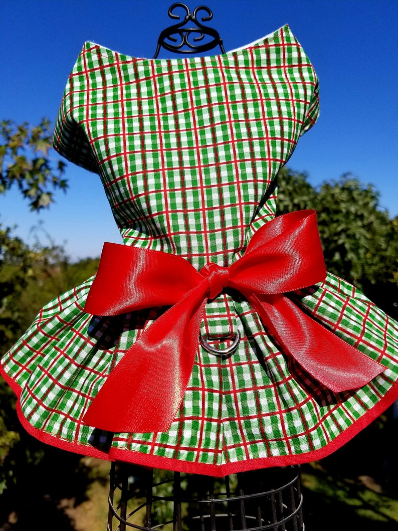 a9ec7d06a5e Holiday Dog Dress ~Plaid ~Christmas Dog Dress ~Fancy Dog ~Puppy Dress ~Pet  Apparel ~Dog Clothes ~Dog Outfit ~Small Dog ~Cute Dog Clothes