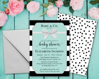 Teal baby shower etsy baby co baby shower invitation printable baby shower invites blue baby shower invitations teal shower invite mint baby shower filmwisefo