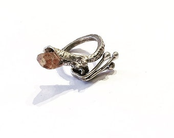 Golden Imperial Topaz Ring