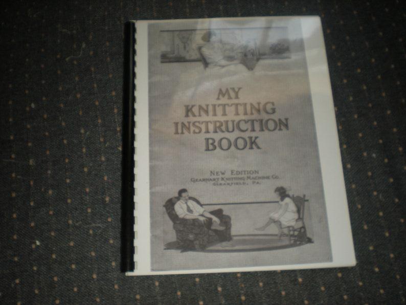 Sock Knitting Machine Gearhart S Manual 1924 Copy My Etsy