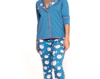 Floral Print Pajama Pant Set