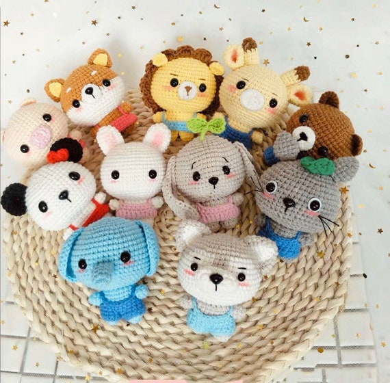 animal toy raccoon,amigurumi animal keyring\uff0c Crochet animal keyring,amigurumi dolls,amigurumi fox,reindeer bunny,piggy,elephant,cat