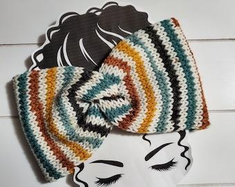 Wildflowers  Knit Twisted Ear Warmer Headband | Turban Headband | Ear Warmer | Wide Headband | Head Wrap | Fall Wear