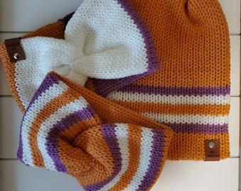 Clemson Knit Beanie | double wall beanie | Tigers wear| Clemson hat | Head Wrap | Fall Wear | Winter Beanie | Clemson earwarmer | sports