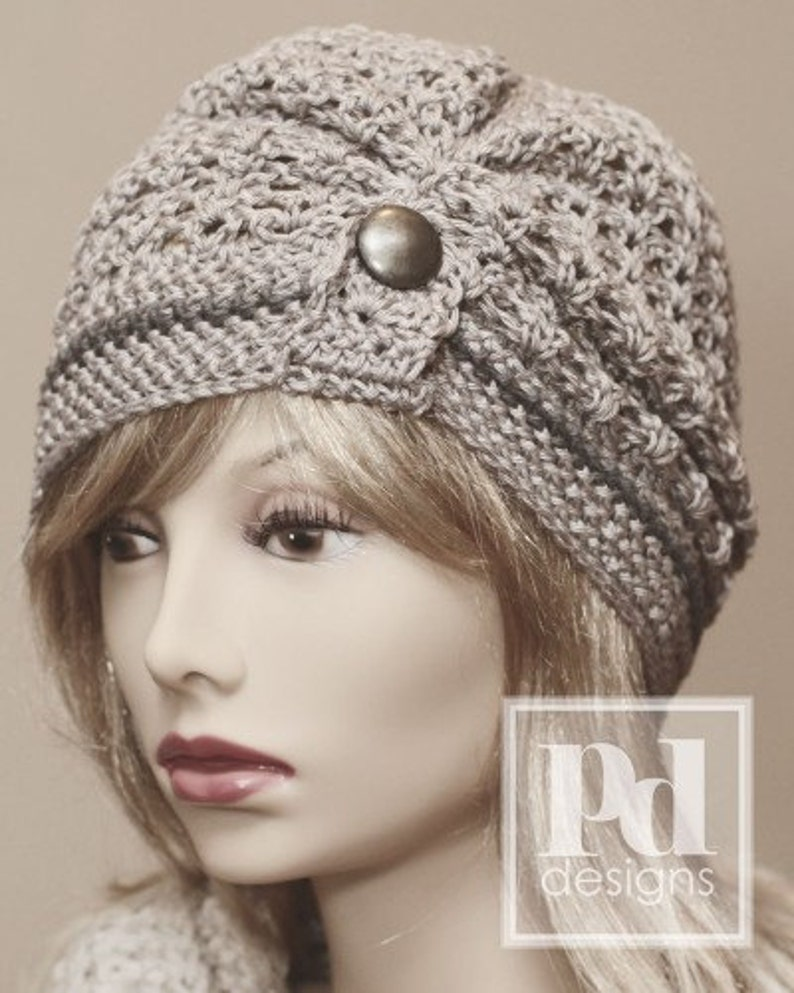 CROCHET Pattern / Ruched Lace Cloche  / Crochet Hat Pattern / image 0