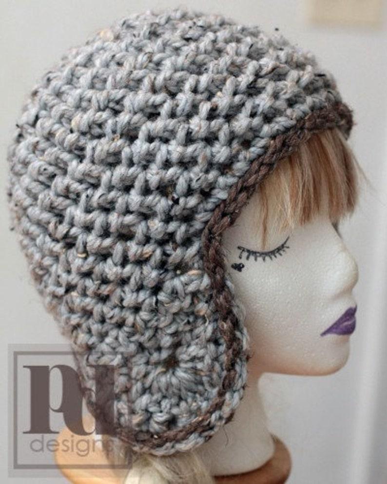 CROCHET PDF PATTERN: Textured Ear Flap Hat image 0