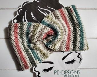 Earth Blossom Knit Twisted Ear Warmer Headband | Turban Headband | Ear Warmer | Wide Headband | Head Wrap | Fall Wear