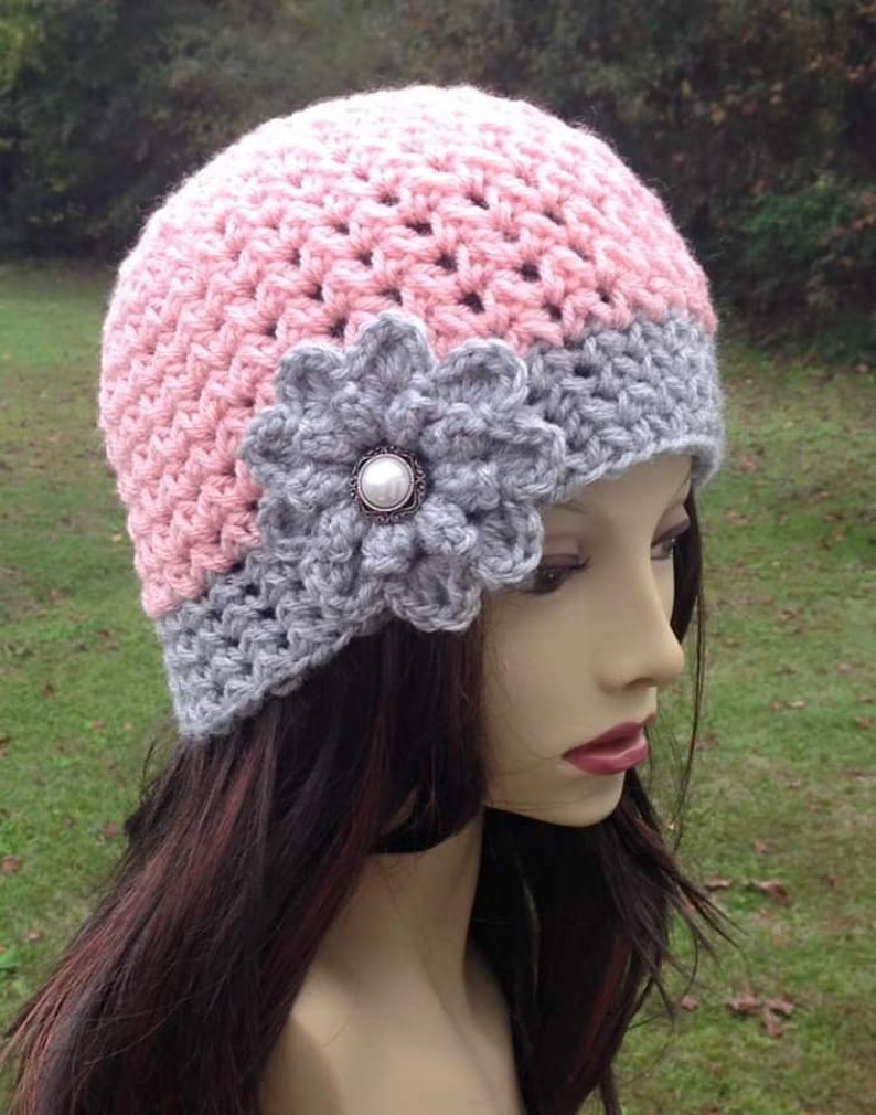 CROCHET PATTERN / Knit Look Beanie / Crochet Beanie Hat / image 0