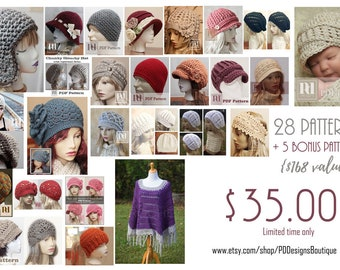 Instant download CROCHET PATTERNS - Buy the Store - Crochet Hat Pattern - Craft Supply - DIY Hat Pattern - Accessories - Slouchy Hat Pattern