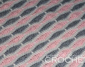 CROCHET Pattern / Honeycomb Baby Blanket / Crochet blanket pattern / baby blanket pattern / baby shower gift / baby blanket / gift for baby