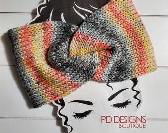 Sunset Knit Twisted Ear Warmer Headband | Turban Headband | Ear Warmer | Wide Headband | Head Wrap | Fall Wear