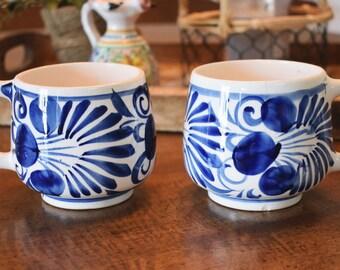 Pair of Vintage Ceramic Coffee Mugs