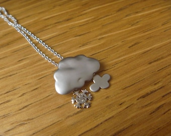 Cloud necklace and snowflake in winter
