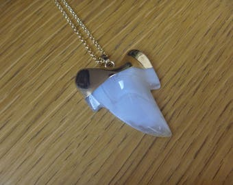 agate shark tooth necklace