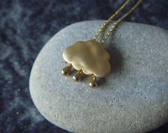 Rain Cloud goldish Necklace