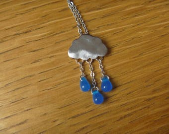 Fall and rain cloud: necklace