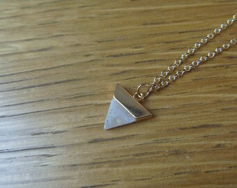 Labradorite and gold triangle necklace