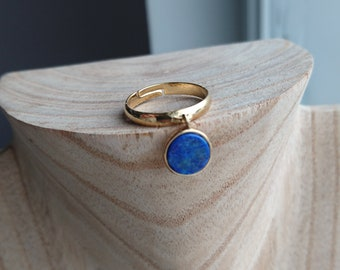 lapis lazuli Gold Plated over Brass ring