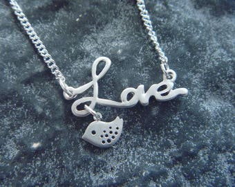 love necklace, love and bird: spring is here!