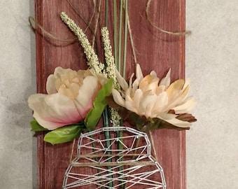 Mason Jar String Art Decor