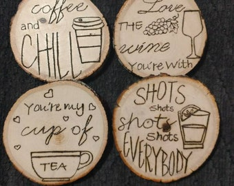 Tree Stump Coasters