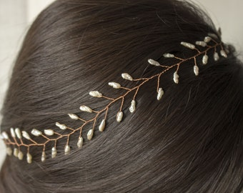 Bridal Hair Vine, charming hair vine, brat haarschmuck, wedding hair accessory, braut haarschmuck