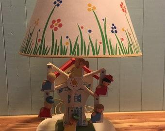 IRMI Hand Painted Original Musical Ferris Wheel Lamp with Original Shade