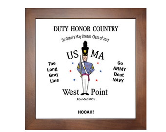 West Point Gift, USMA, West Point Moms, Cadet Gift, Long Gray Line, Gift for West Point, Army, Photo Tile, 2017 Motto, Beat navy, framed