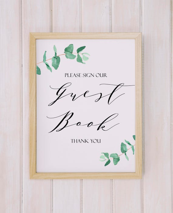 Guest Book Sign Printable Wedding Sign Printable Guest Book Etsy