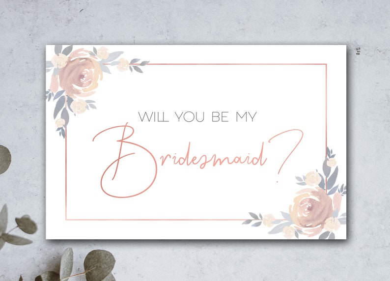 photo regarding Will You Be My Bridesmaid Printable referred to as Printable Will Your self Be My Bridesmaid Card Bridesmaid Proposal Card Be My Bridesmaid Card Floral Bridesmaid Card Blush Purple Bridesmaid Card