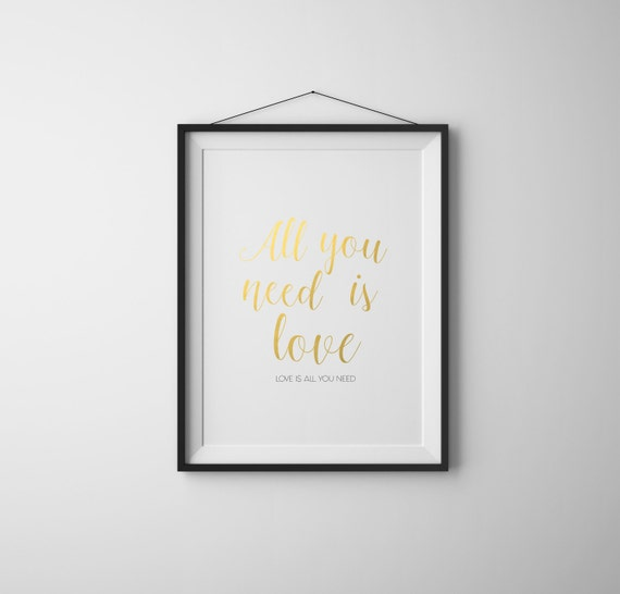 Valentines Day Decor Printable All You Need Is Love Valentines Etsy Mesmerizing Love Quotes For Valentines Day For Her