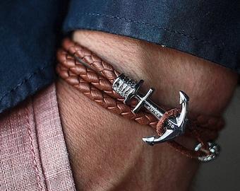 Bracelet homme personnalise ancre