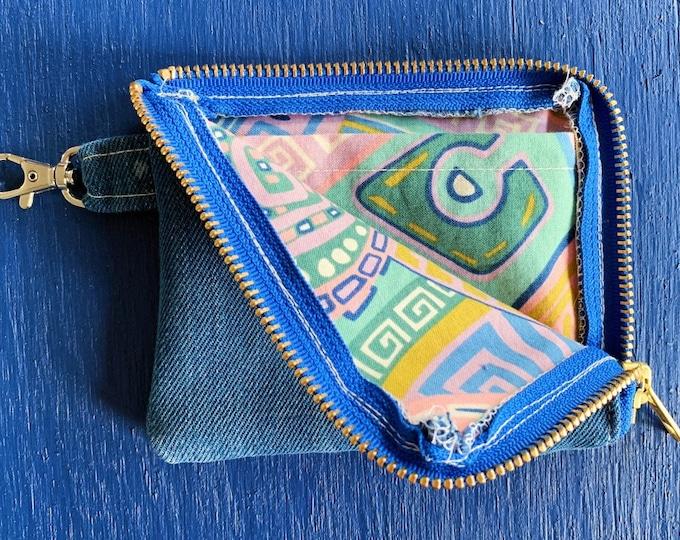 Denim Zipper Wallet