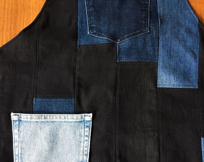 Patchwork Denim Apron