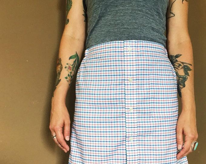 Blue & Red Plaid Mensware Skirt