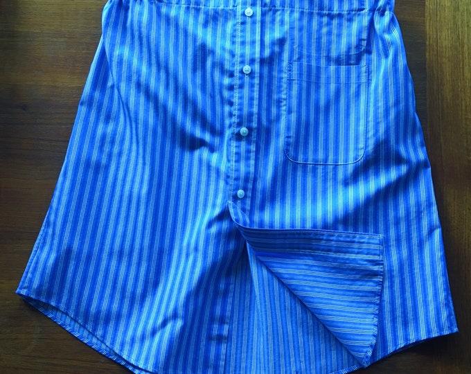Blue Pinstripe Mensware Skirt