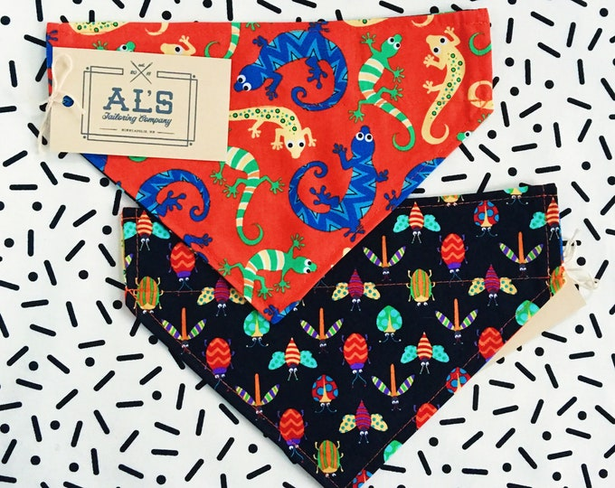 Reversible Lizards & Bugs Bandana