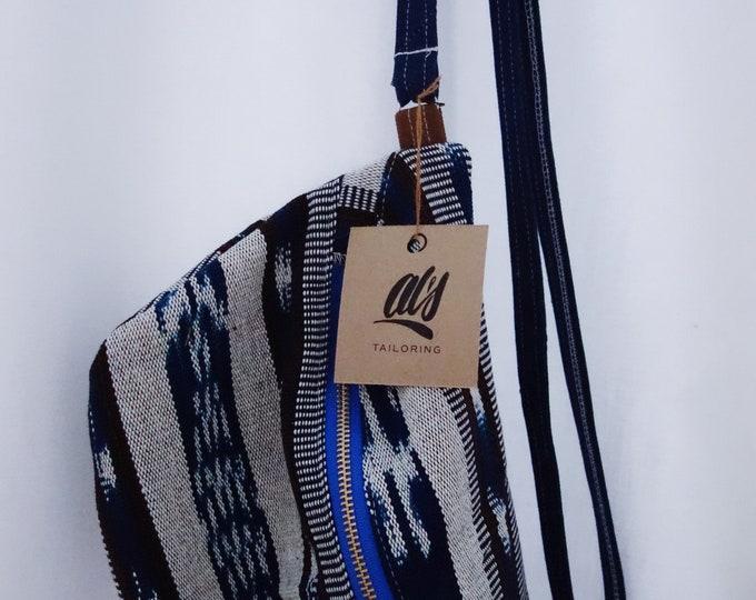 Blue Woven Monster Hip & Crossbody Bag