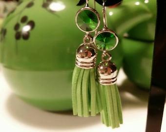 Earring with tassels